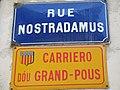Rue nostradamus street sign.jpg