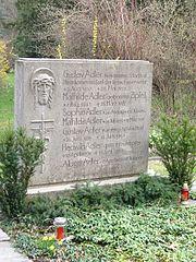 Ruhestätte Adler - Gustav Adler - Altstadtrat