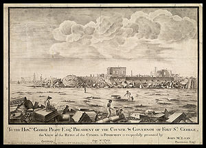 Siege of Pondicherry (1760) - Image: Ruines de Pondichery en 1762