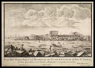 George Pigot, 1st Baron Pigot - Image: Ruines de Pondichery en 1762