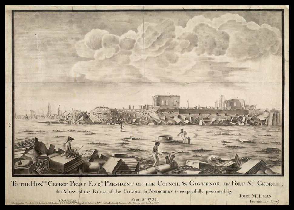 Ruines de Pondichery en 1762