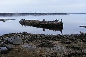 The Island (2006 film) - Image: Russia Rabocheostrovsk Ostrovs scenery barge