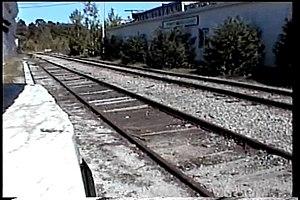 Rutland Railroad - Rutland-Burlington Railroad passing through Proctor