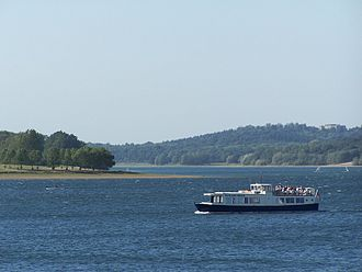 Rutland Water - The Rutland Belle pleasure boat taking visitors across the water