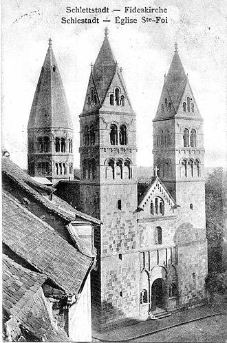 St. Faith's Church, Sélestat - Image: Sélestat église Ste Foy 1902