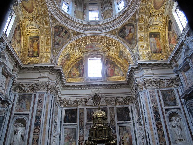 S.m. maggiore, cappella del ss. sacramento (sistina), del fontana (1584-7) con amrmi dal settizionio 02.JPG