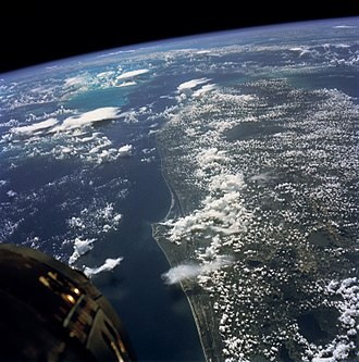 Gemini 5 - View of Cape Kennedy, Florida from Gemini V