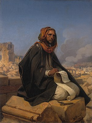 Jeremiah - Horace Vernet, Jeremiah on the ruins of Jerusalem (1844)