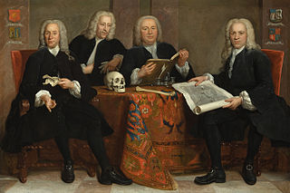 Portrait of four Overlieden of the Sergeon's Guild