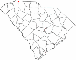 Landrum, South Carolina - Image: SC Map doton Landrum