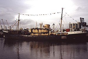 SS Explorer at Leith in 2005