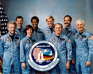Wubbo Ockels - The STS-61-A crew with Ockels second from the right