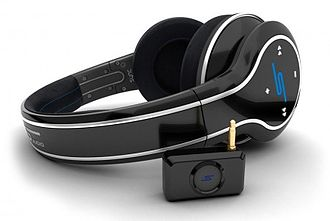 SMS Audio - SYNC by 50 headphones with a wireless connector.