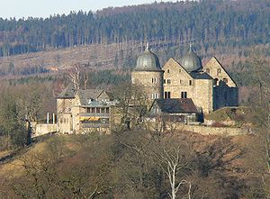 North Hesse - The legendary castle of Sababurg in the Reinhardswald