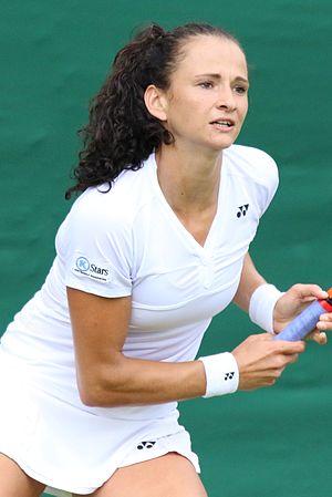 Amra Sadiković - Sadiković at the 2016 Wimbledon<br/>qualifying tournament