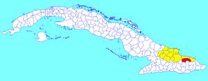 Sagua de Tánamo - Image: Sagua de Tánamo (Cuban municipal map)