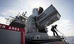 Sailors clean the SEARAM close-in weapons system aboard USS Porter. (26001426632).jpg