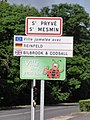 Saint-Pryvé-Saint-Mesmin (Loiret) city limit sign.JPG