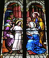 Saint Mary Catholic Church (Dayton, Ohio) - stained glass, Finding the Child in the Temple.JPG