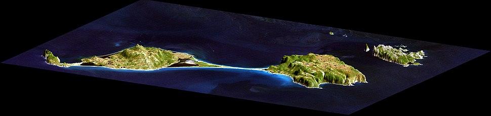 Saint Pierre and Miquelon Islands - SRTM