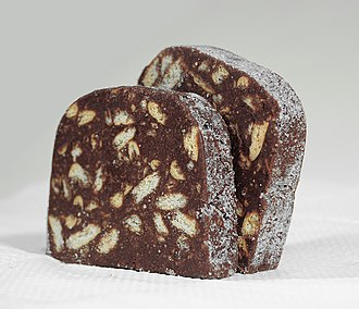 Chocolate salami - Chocolat Salami made in Portugal (by Lusoestrela)