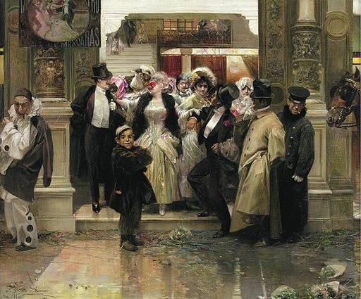 Salida de un baile de mascaras de José García Ramos