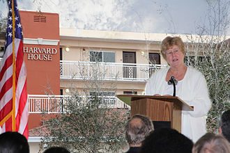 Sally A. Heyman - Miami-Dade County Commissioner Sally A. Heyman speaks at grand opening of Harvard House community in North Miami Beach, Florida.