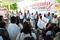 Salomón Jara y Andrés Manuel López Obrador día 7 de campaña en Villa de Etla,.JPG