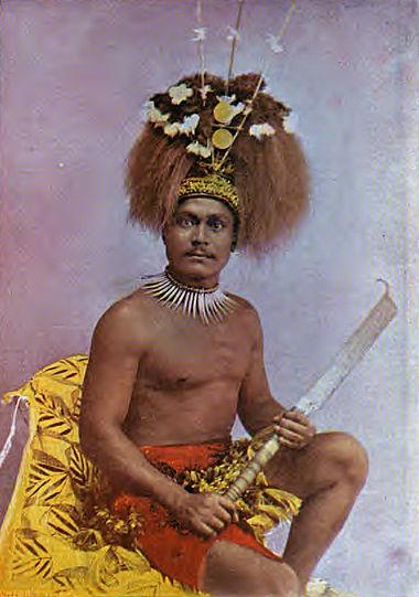 Guerrier samoan en 1896