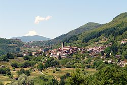 Panorama of San Romano in Garfagnana