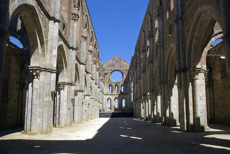 L 39 abbazia di san galgano sguardo sul medioevo - La tavola rotonda assisi ...