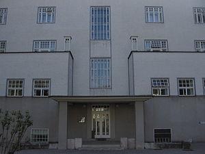 Sanatorium Purkersdorf - The western entrance into the building.