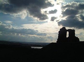 Las ruinas del Castillo de Sandal en West Yorkshire.