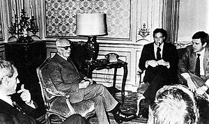Giorgio Benvenuto - Formet Italian Republic President Sandro Pertini in a meeting with confederated trade unions secretaries Pierre Carniti (CISL), Luciano Lama (CGIL) and Giorgio Benvenuto (UIL).