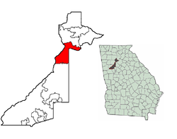 Location in Fulton County in the state of Georgia