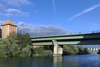 road and railway bridge between Kungsholmen and Vasastan in Stockholm, Sweden