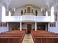 Sankt Jakobus Achslach - Empore mit Edenhofer-Orgel.JPG