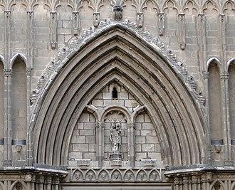 Santa Maria del Pi, Barcelona - Tympanum.