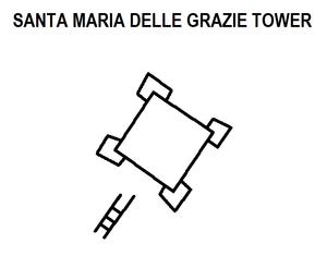 Santa Maria delle Grazie Tower - Image: Santa Maria delle Grazie Tower map