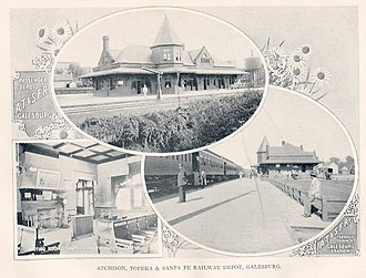 Galesburg station (Atchison, Topeka and Santa Fe Railway) - Image: Sante Fe Depot 2