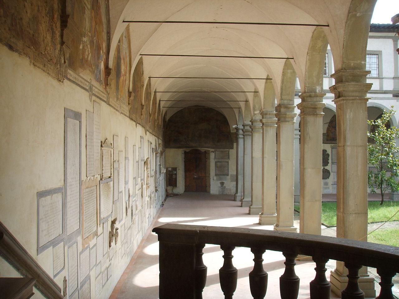 het Chiostro dei Morti, Basilica Santa Maria del Santo Spirito, Florence