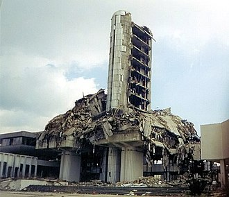 Oslobođenje - The Oslobođenje building was targeted from the beginning of the war by Serb troops led by Ratko Mladić.