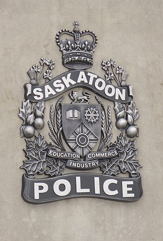 Saskatoon Police Service - Service shield, on new building in 2014