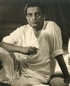 Satyajit Ray Satyajit Ray with Ravi Sankar recording for Pather Panchali cropped Ray.jpg