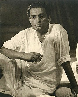Satyajit Ray with Ravi Sankar recording for Pather Panchali cropped Ray.jpg