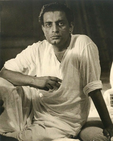 Satyajit Ray with Ravi Sankar recording for Pather Panchali cropped Ray