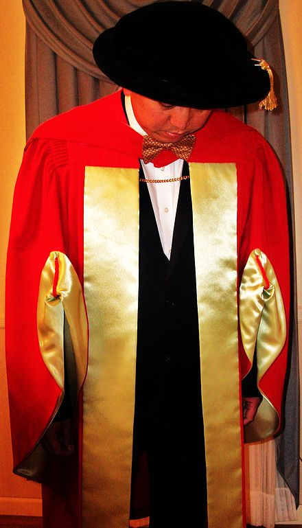 McGill University's scarlet, Ph.D. regalia dates back to the early 19th century. - Academic dress
