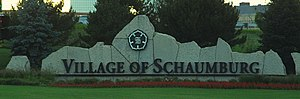 Schaumburg, Illinois - Schaumburg, Illinois welcome sign