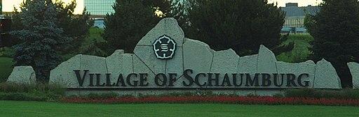 Schaumburg, Illinois welcome sign