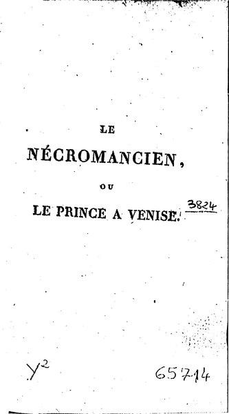 File:Schiller - Le Nécromancien ou le Prince à Venise, tome second.djvu